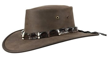 Picture of Barmah Outback Crocodile Hat with 5 Croc Teeth