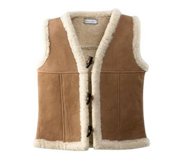Picture of Wild Goose Sheepskin Toggle Vest VT-201 SOLD OUT