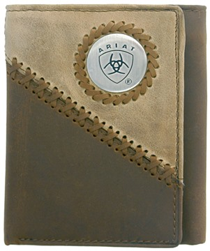 Picture of Ariat Tri-fold Wallet - Brown / Fawn