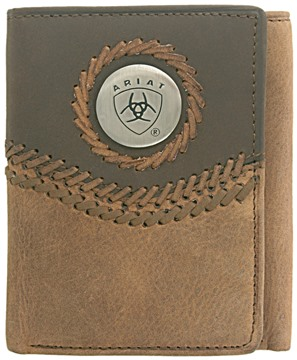 Picture of Ariat Tri-fold Wallet - Chestnut / Brown