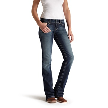 Picture of Ariat Womens R.E.A.L Mid Rise Boot Cut Jean Spitfire