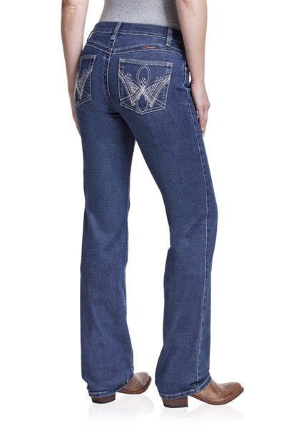 Picture of WRANGLER WOMENS MID RISE BOOT CUT JEAN - Q BABY - 34 LEG