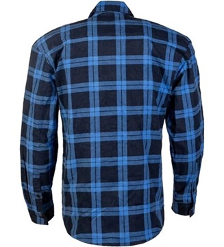 Picture of Pilbara Open Front Flannelette Shirt -ROYAL AND NAVY