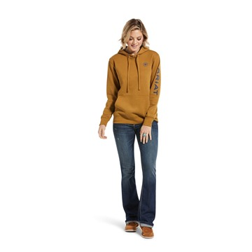Picture of Ariat Women's Real Arm Logo Hood Bronze Brown