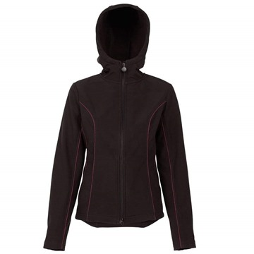 Picture of Outback Trading Ladies Poppy Softshell Hoody Black