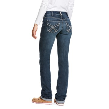 Picture of Ariat Womens R.E.A.L. Low Rise Stretch Kylie Stackable Straight Leg Jean Gemstone